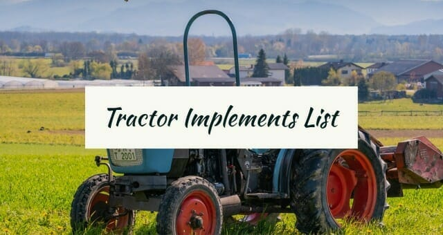 Tractor Implements List